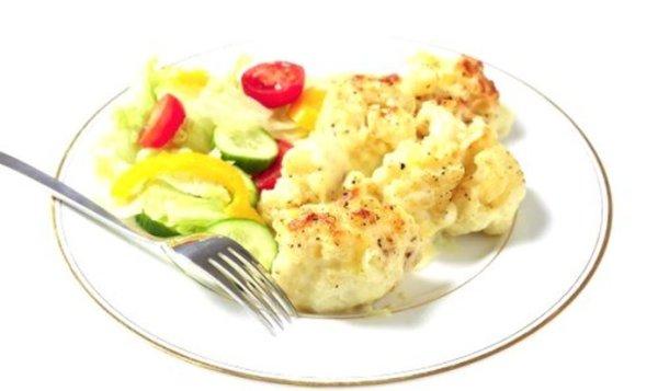 Простой Рецепт жареной цветной капусты в сырном соусе ...
