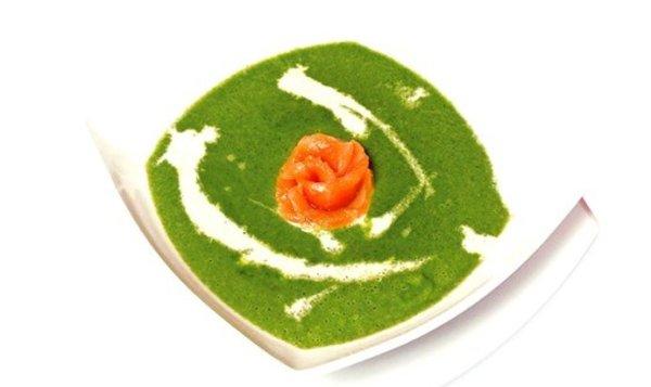 Простой Рецепт суп-пюре из шпината с норвежской семгой ...