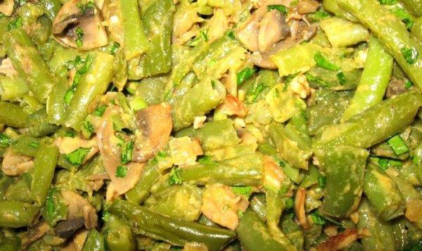 Простой Рецепт салата со стручковой фасолью и грибами ...
