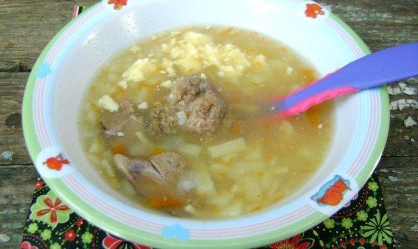Простой Рецепт детского печеночного супа с домашней лапшой ...