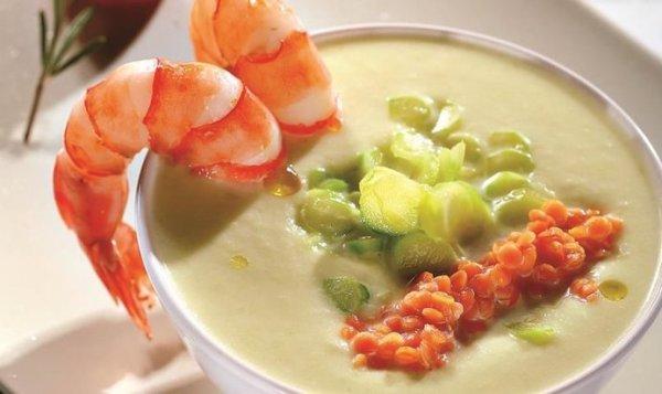 Простой Рецепт суп-пюре из спаржи с красной чечевицей и ...