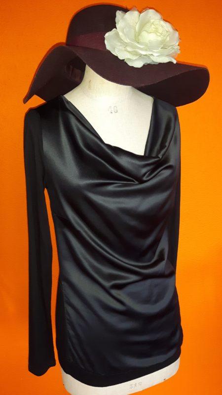 shirt Geisha,goosvintage,tweedehands shirt Geisha.leatherlook shirt,goosvintagevught