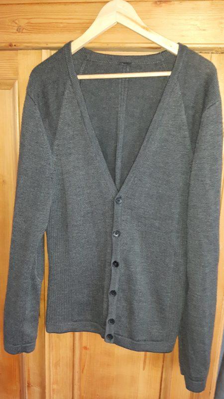 Vintage grijs wollen vest Cold Method,goosvintage