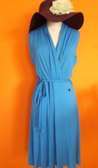 Vintage blauwe jurk HV Polo XL,goosvintage
