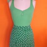 Vintage groen polkadot rokje SOHO maat S,Goosvintage