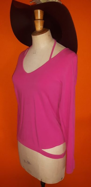 Vintage roze shirt Marlies Dekkers Undressed maat M,Goosvintage