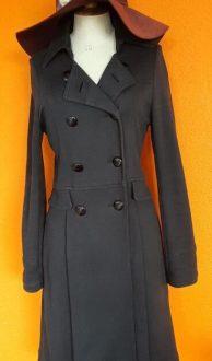 vintage zwarte stretch trenchcoat Soaked in Luxury maat S,Goosvintage