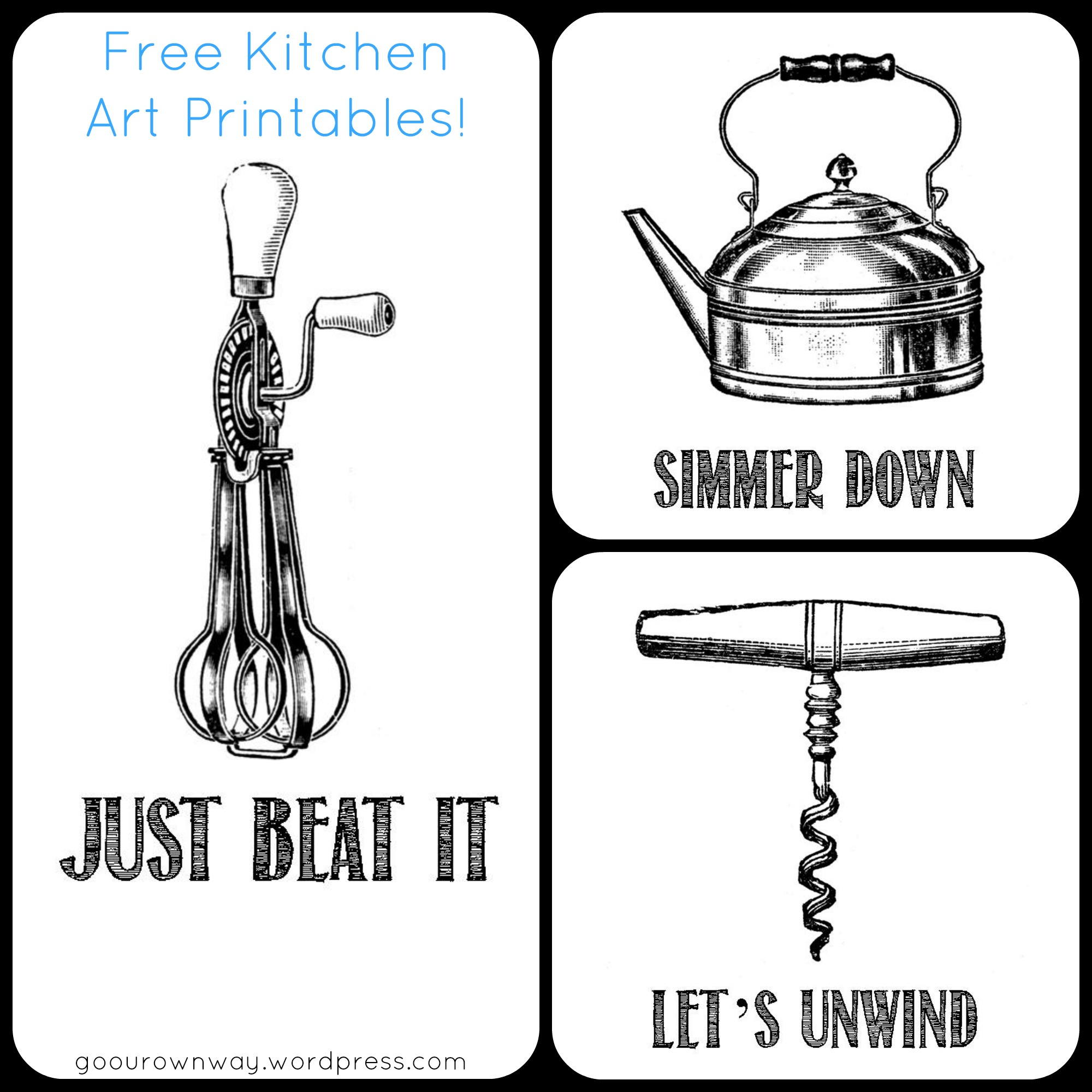 Kitchen Art Free Printables