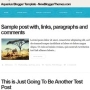 Aquarius Blogger Templates