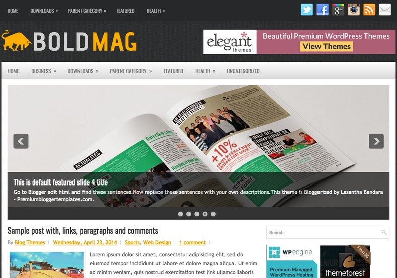 BoldMag Responsive Blogger Template
