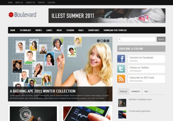 Boulevard Blogger Template 2014 Free Download