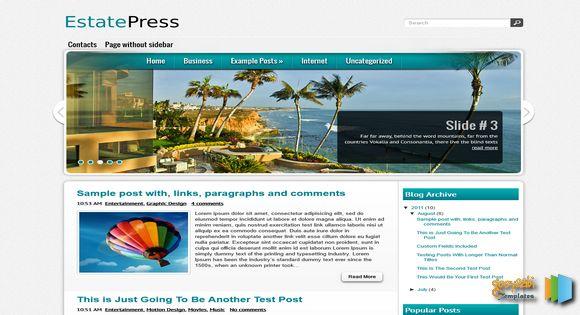 EstatePress Blogger Template 2014 Free Download