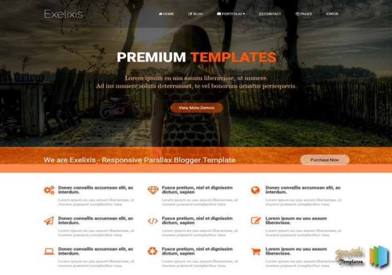 Exelixis Blogger Template. Blogger Themes. Free Blogspot templates for your blogger blog. Best suitable for news blog templates. Best Ads ready blogspot templates help for add adsense ad code and easily showing adsence ads in your blog. Adapted from WordPress templates are converted from WordPress themes. It is help for take your rich. Blogger magazine template specially designed for magazine blogs. The writers can utilize this themes for take blog attractive to users. Elegant themes are more used themes in most of the blogs. Use minimalist blog templates for rich look for your blog. Free premium blogger themes means, themes authors release two types of themes. One is premium another one is free. Premium templates given for cost but free themes given for no cost. You no need pay From California, USA. $10 USD, or $20 USD and more. But premium buyers get more facilities from authors But free buyers. If you run game or other animation oriented blogs, and you can try with Anime blog templates. Today the world is fashion world. So girls involve to the criteria for make their life fashionable. So we provide fashion blogger themes for make your fashionable. News is most important concept of the world. Download news blogger templates for publishing online news. You can make your blog as online shopping store. Get Online shopping store blogger template to sell your product. Navigation is most important to users find correct place. Download drop down menu, page navigation menu, breadcrumb navigation menu and vertical dropdown menu blogspot themes for free. Google Guide to blogging tips and tricks for bloggers. Google bloggers can get blogspot trick and tips for bloggers. Blog templates portfolio professional blogspot themes, You can store your life moments with your blogs with personal pages templates. Video and movie blogs owners get amazing movie blog themes for their blogs. Business templates download. We publish blogger themes for photographers. Photographers easily share photos via photography blog themes. St valentine Christmas Halloween templates. Download Slideshow slider templates for free. Under construction coming soon custom blogspot template. Best beautiful high quality Custom layouts Blog templates from templateism, SoraTemplates, templatetrackers, simple, cute free premium professional unique designs blog themes blogspot themes. Seo ready portfolio anime fashion movie movies health custom layouts best download blogspot themes simple cute free premium professional unique designs xml html code html5. Exelixis Blogger Template