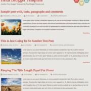 Hexa Responsive Blogger Templates