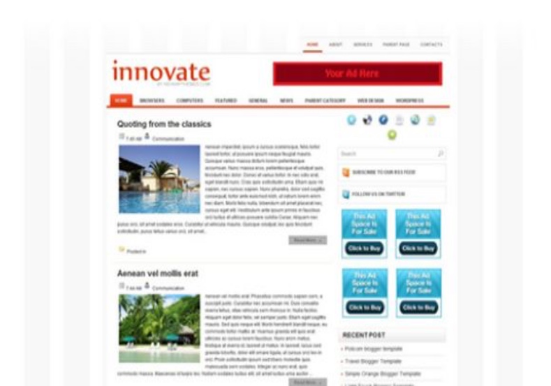 Innovate Blogger Template download free blogspot themes