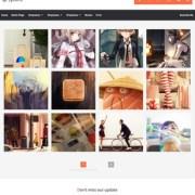 Lycoris Responsive Photography Blogger Templates
