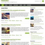 MaidenHair Blogger Templates
