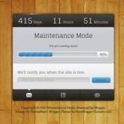 Maintenance Mode Blogger Templates