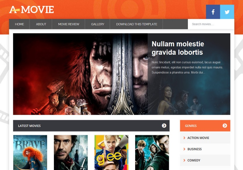 Movie Gallery Blogger Template. Download best free blogger templates 2016 for your movie and film industry based blogging blog. Movie Gallery Blogger Template help to build movie blogging site with blogger.
