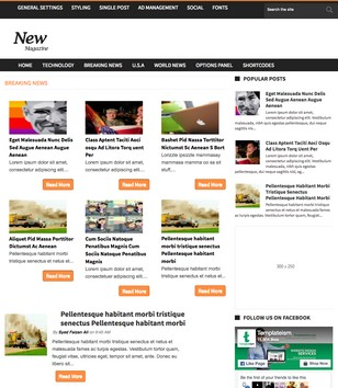 News Magazine Blogger Templates