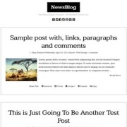 NewsBlog Blogger Templates