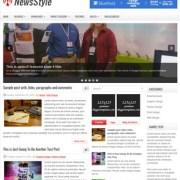 NewsStyle Blogger Templates
