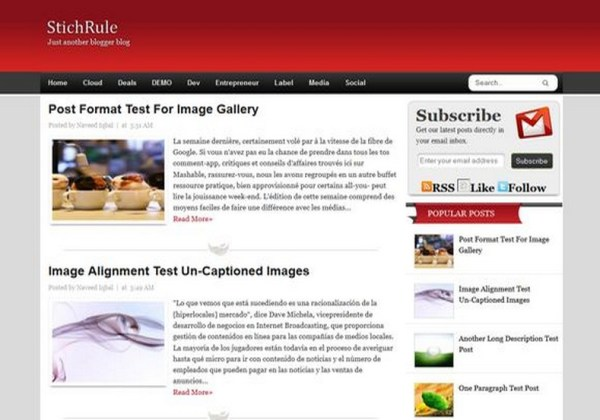 StichRule Blogger Template 2014 Free Download