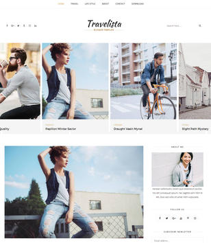 Travelista Tour Blogger Templates