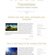 Typominima Blogger Templates