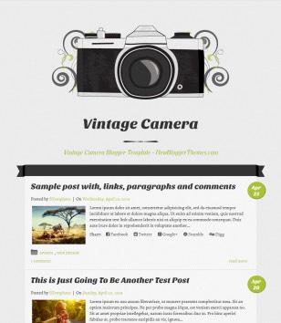 Vintage Camera Responsive Blogger Templates