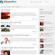 Zikazev Blue Blogger Templates