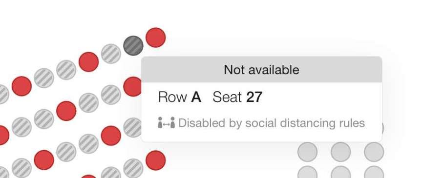 seat selection screenshot