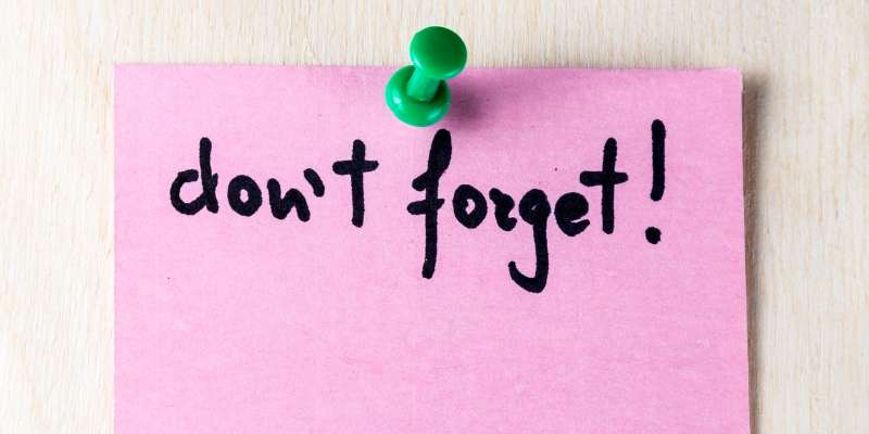 sticky note don't forget