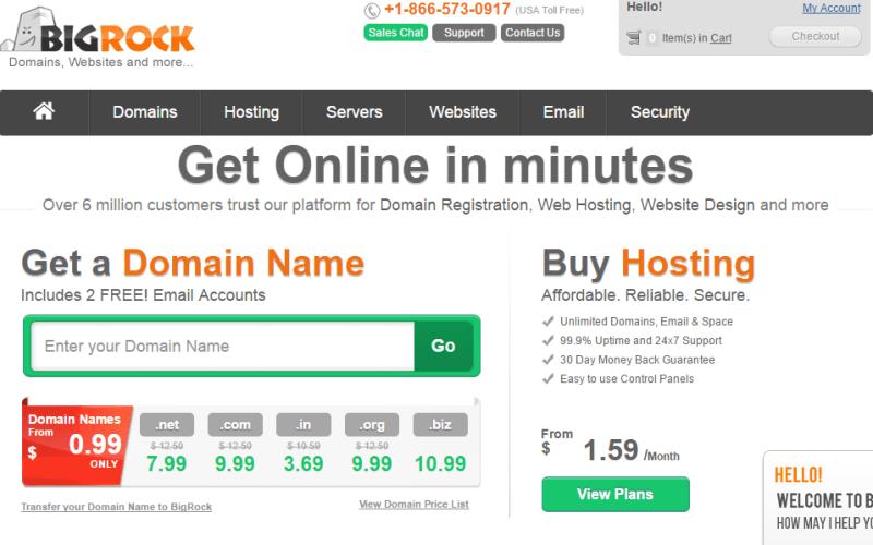 BigRock hosting review