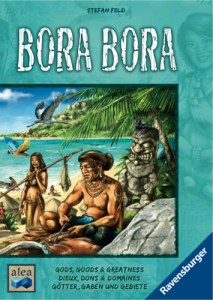 The Bora Bora board game box