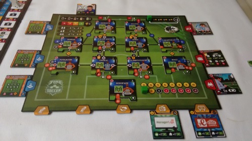 Time of Soccer player board