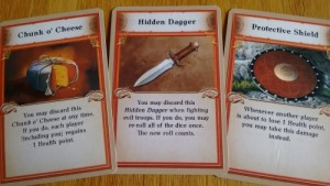 The Dwarves equipment cards