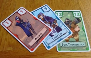 Treasure Hunter character cards