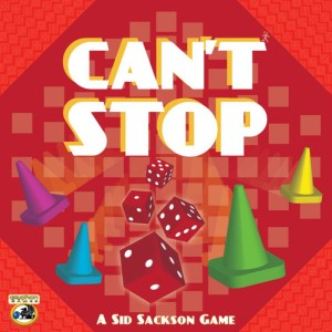 Box art for Can't Stop, the number one game in this top 10 dice games list