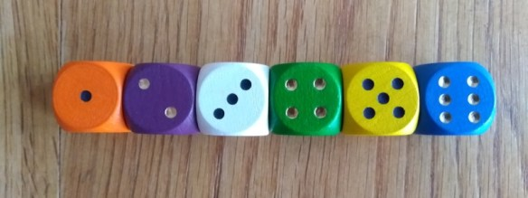 That's Pretty Clever dice, one of my top 10 roll and write games