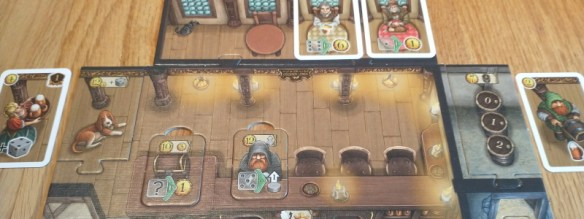 A player board from The Taverns of Tiefenthal board game