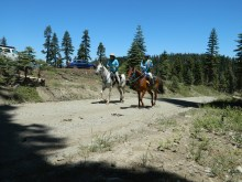 riders leaving Robinson Flat