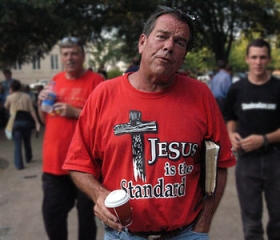 Flip Benham, of the Concord, N.C.-based Operation Save America. Photo Credit: Mark Lyon