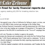 Mormon-owned paper plays to owner bias