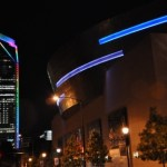 Yes, the Duke Energy Building went gay for National Coming Out Day