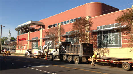 The new Plaza Midwood Harris Teeter, seen here nearing completion of construction in April 2013, will reopen on May 29. File Photo.