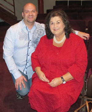 Different Roads Home CEO/President Dale Pierce with Jeannie White Ginder, mother of Ryan White who died of AIDS and was the inspiration behind  passage of the Ryan White Care Act.