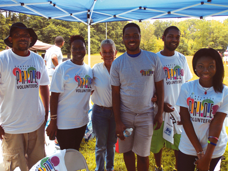 Charlotte Black Gay Pride volunteers were in full force as they welcomed attendees during the  July 20 Charlotte Black Gay Pride. File Photo