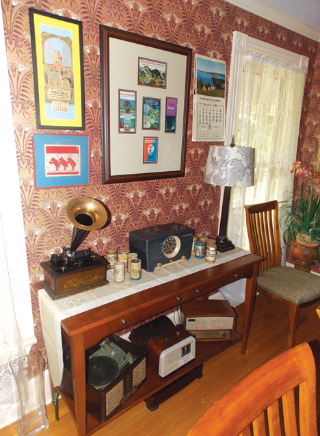Their historic home in North Carolina  contains personal treasures and passions like antique radios.