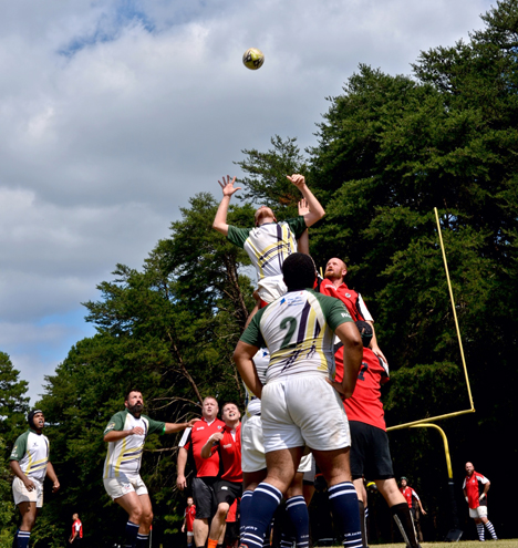 Royals Josh Whaley winning a lineout. Photo Credit: Alex Aguilar